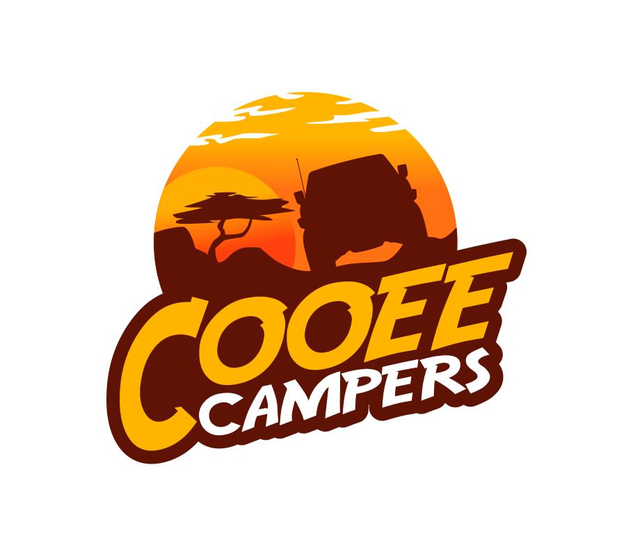 cooee camper trailer logo design